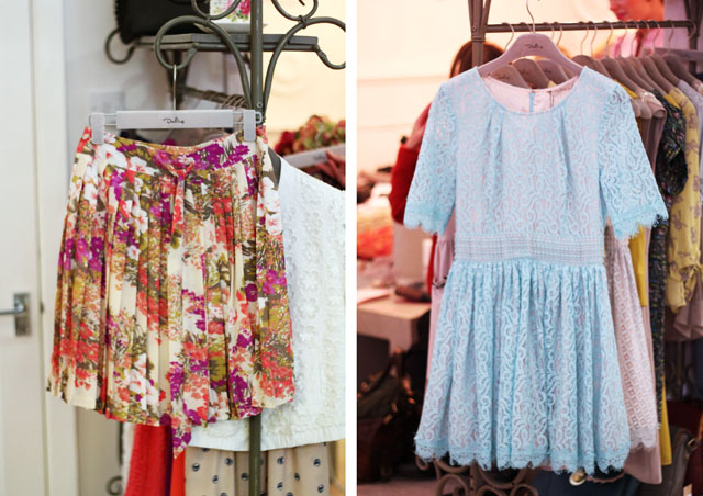 darling clothes ss12 lace dress floral skirt