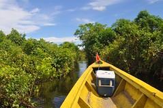 En barca pel riu crescut