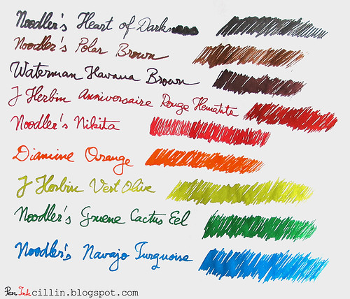J Herbin glass dip pen sample
