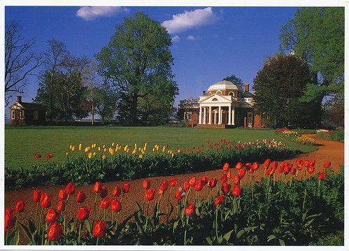 Monticello and the University of Virginia in Charlottesville