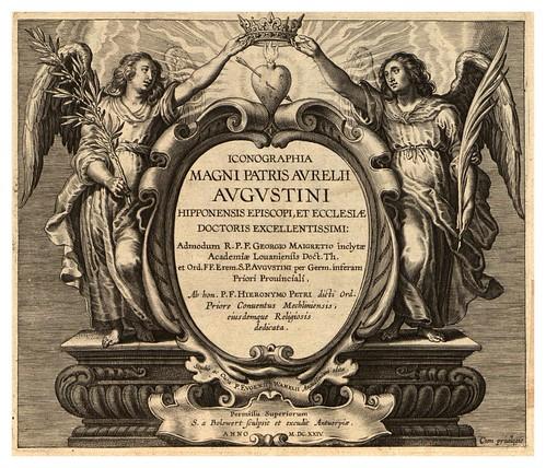 001-Portada-Iconographia magni patris Aurelli Augustini…1624-Grabados de Boetius Bolswert- Cortesia de Villanova University