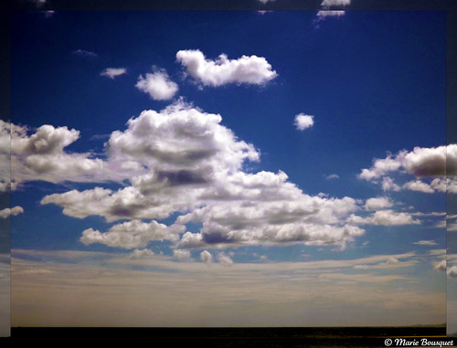 Ciel au-dessus de la mer à Canet
