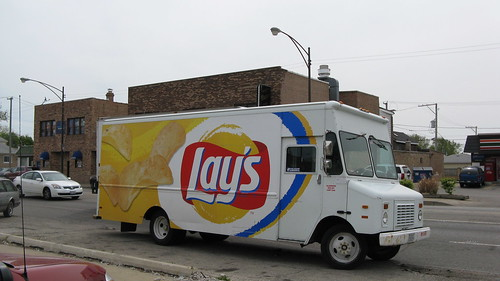 Lay's Potato Chips delivery truck.  Chicago Illinois USA. April 2012. by Eddie from Chicago