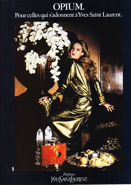 1983 - YSL - Opium perfume- Jerry Hall