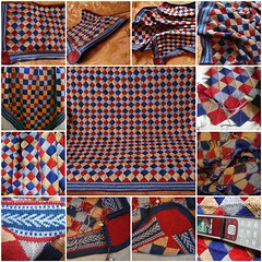 Blanket in the style of patchwork.