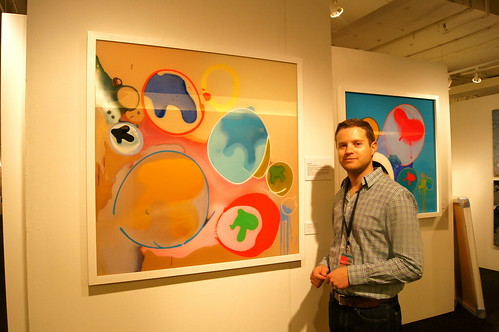 Tim Garwood stands by one of his pieces.