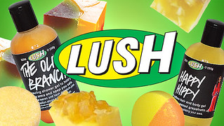 a color photo of two LUSH beauty products