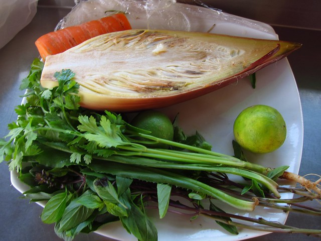 Banana Flower Salad Ingredients