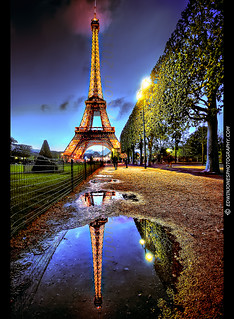 Eiffel Tower Reflection Paris