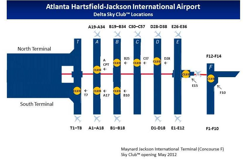 Atlanta HartsfieldJackson Sky Club Guide  FlyerTalk Forums