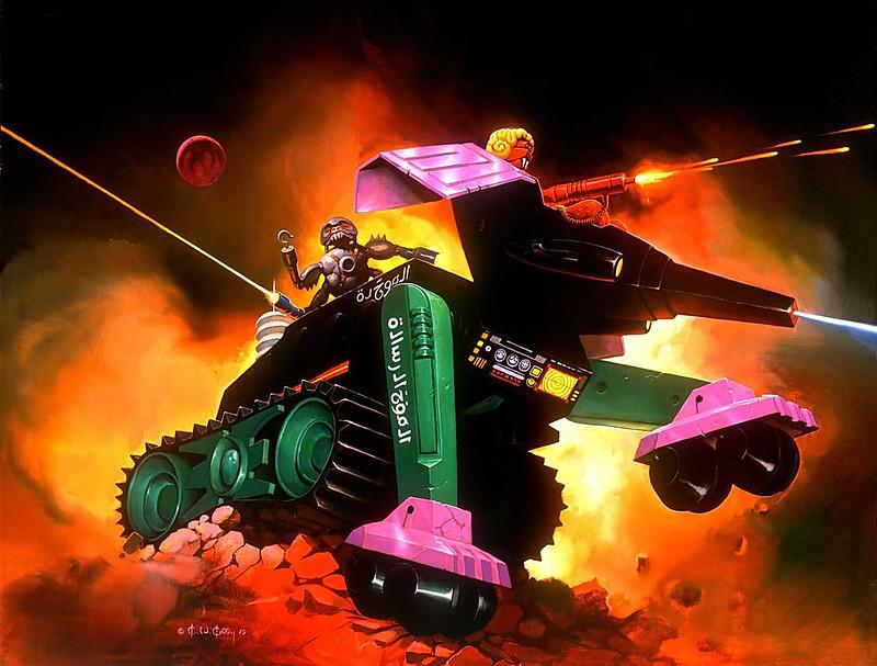 Ken Kelly - Terraphant, Micronauts Box Cover Art