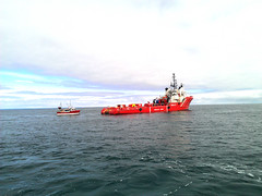 Offshore oil spill response exercise