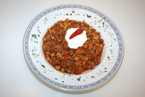 33 - Orientalisches Puten-Chili / Oriental turkey chili - Serviert