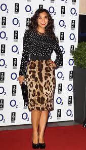 Myleene Klass Clashing Prints Celebrity Style Women's Fashion