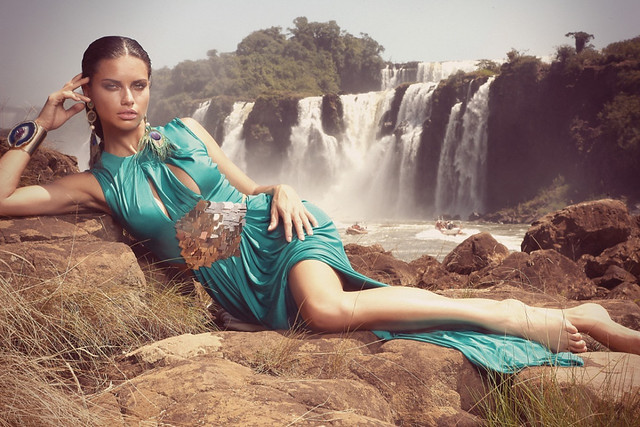 * nature Adriana Lima by André Passos for Vogue Brazil