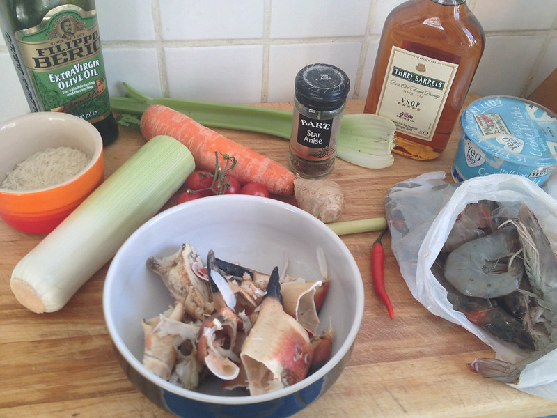 Crab and Scallop Ravioli : Prawn Bisque Ingredients