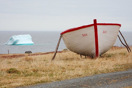 ocean red white seascape canada berg newfoundland landscape boat scenery scenic atlantic iceberg nfld newf avalonpeninsula