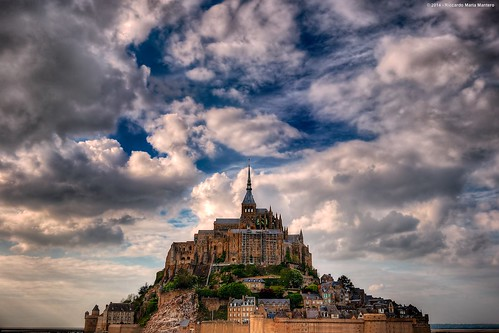 sky cloud france building castle monument saint landscape europe day landmark lower michel normandy mont dreamscape montsaintmichel riccardo dreamview mantero afszoomnikkor2470mmf28ged potd:country=it