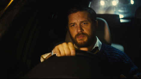 Tom Hardy behind the wheel is pretty much all you'll see in LOCKE.
