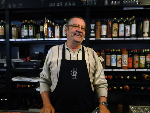 the Gin Museum bartender in Hasselt, Belgium