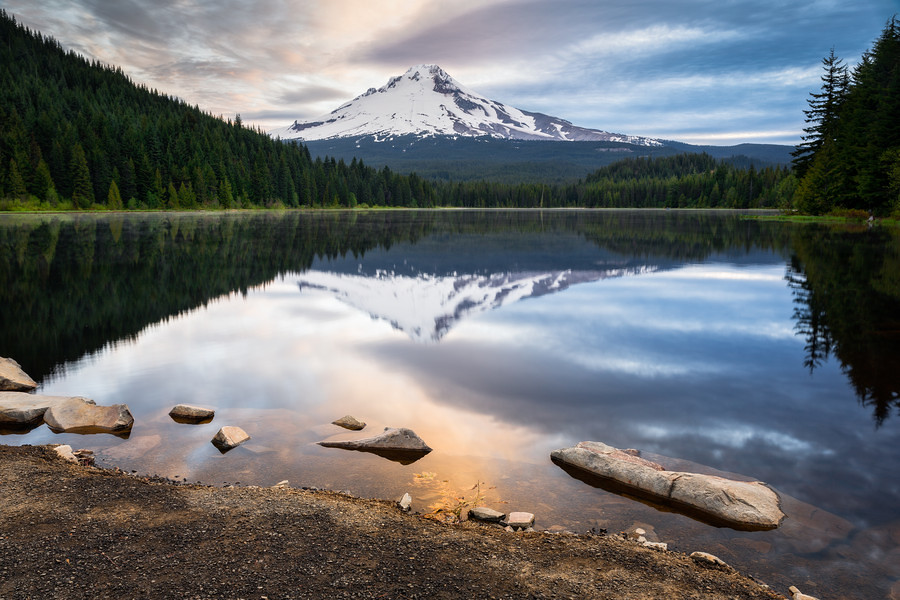 Eureka peak oregon tripcarta for Barlow cabin trillium lake