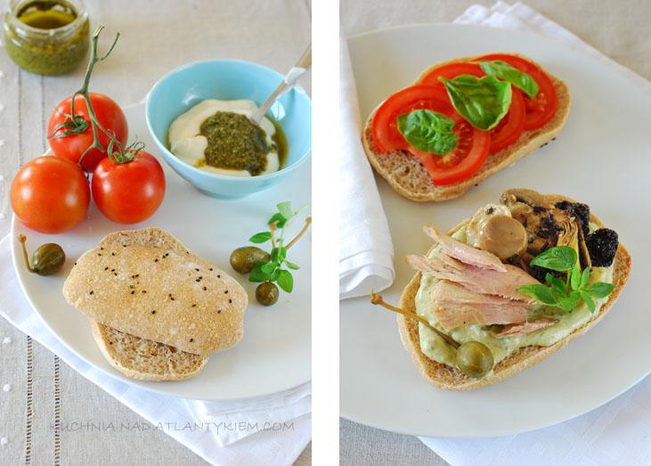 Panini bread sandwich