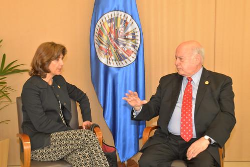 Secretario General de la OEA se reunió con Ministra de Relaciones Exteriores de Colombia