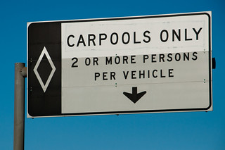 Carpool lane sign