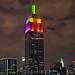 Rainbow Empire State Building