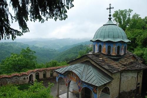 church landscape view monastery bulgaria vista sokolski