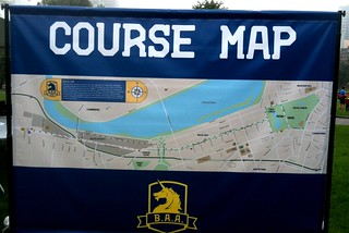 Out & back course map
