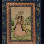 Album of Persian and Indian calligraphy and paintings, Portrait of Ismāʿīl Mīrzā, Walters Manuscript W.668, fol.15a