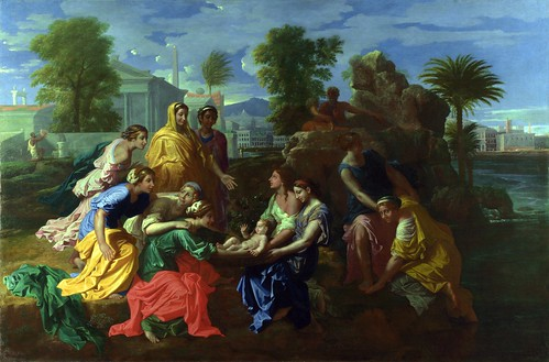 Nicolas Poussin - The Finding of Moses [1651] by Gandalf's Gallery