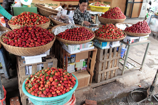 Dalat is also famous for its strawberries