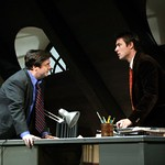 Nathan Lane as Butley and Benedick Bates as Joey in the Huntington Theatre Company's production of Simon Gray's