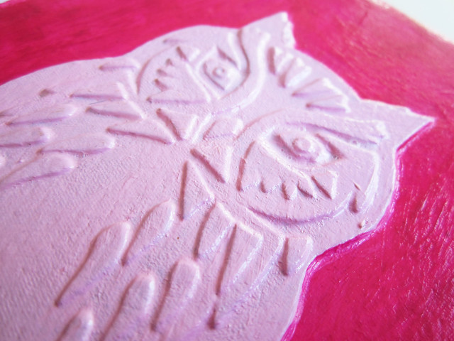 Owl journal revisited: I painted it pink!