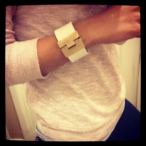 Leighelena White Jigsaw Bracelet