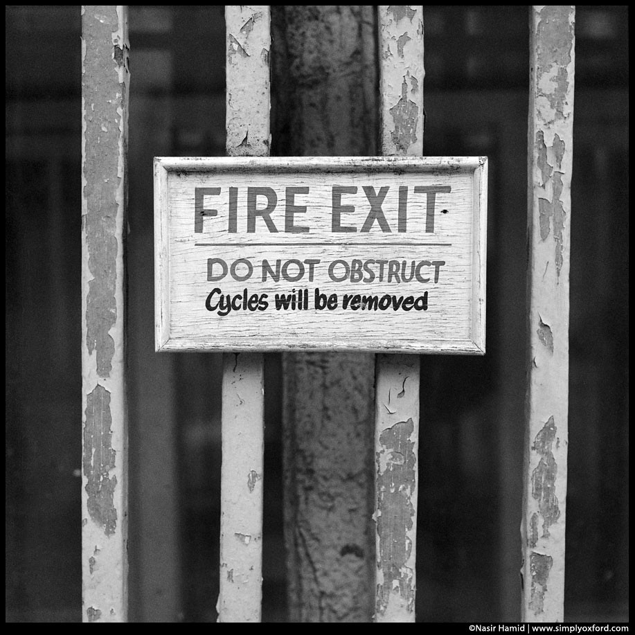 Hand painted Fire Exit sign