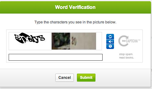 word verification wtf