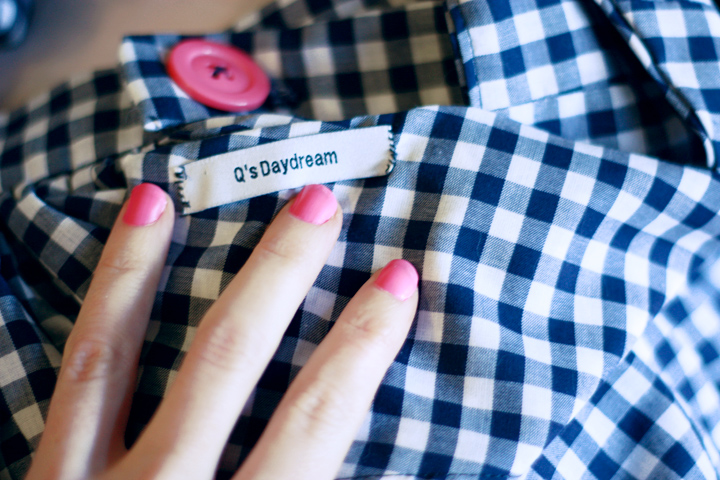 qs daydream gingham playsuit i