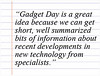 Comment for Gadget Day - April 11, 2012 by Weigle Information Commons
