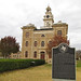 Small photo of Shackelford County marker and courthouse