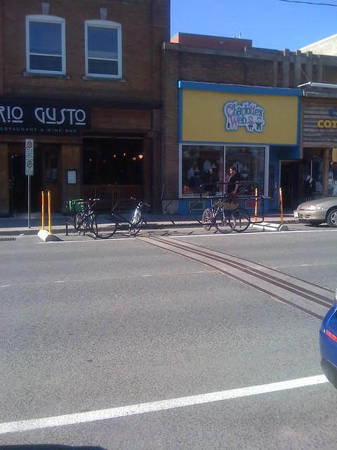 Image of new bike racks in Peterborough, Ontario