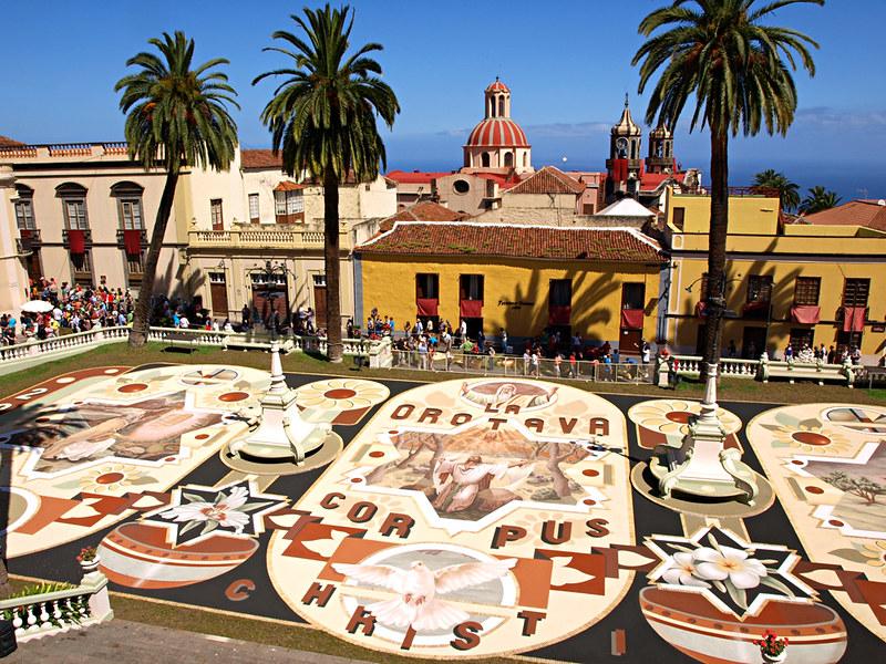 Record Breaking Sand Tapestry, La Orotava, Tenerife