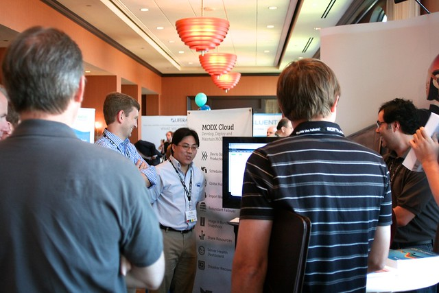 One of many demos during CMX Expo