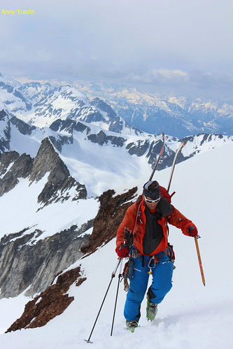 Mt Sahale.... North Cascades....skier Mike Traslin