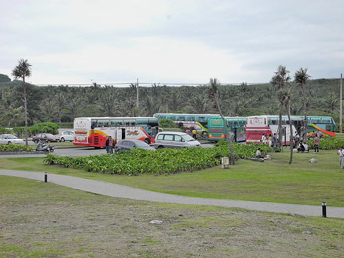 Tour Buses at Jialulan