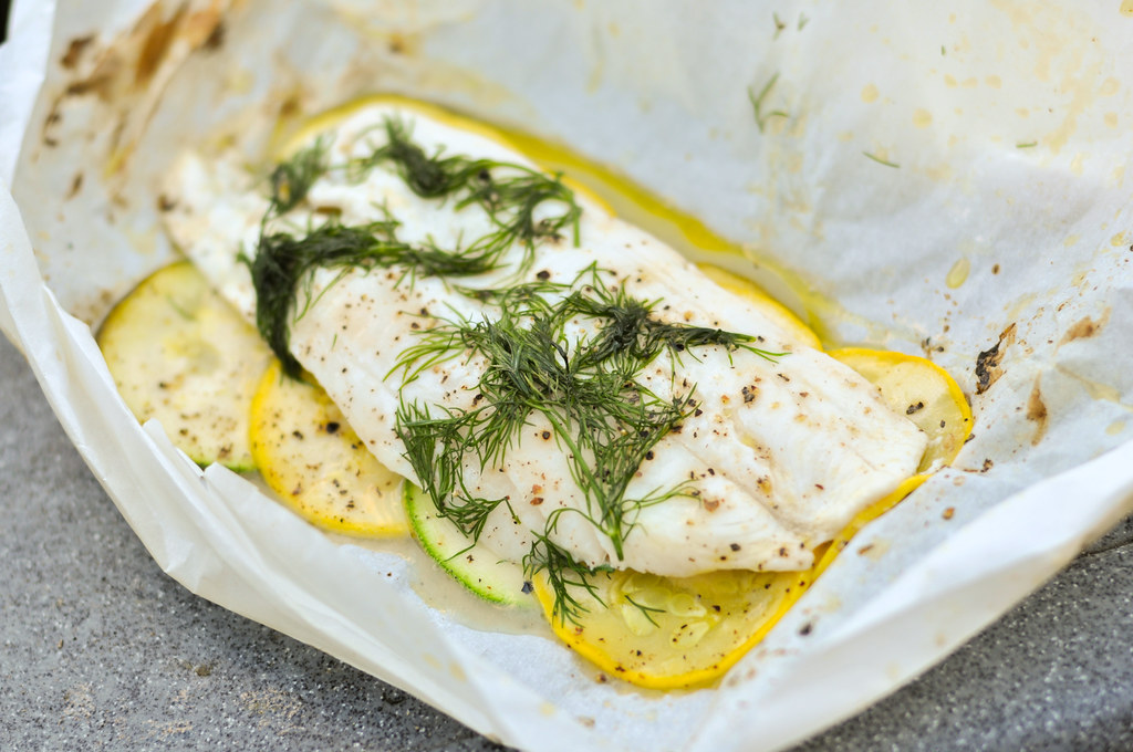 Grilled Fish in Parchment