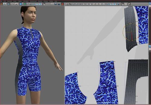 Obra de Darío Urzay con el programa CLO 3D: triatleta frontal