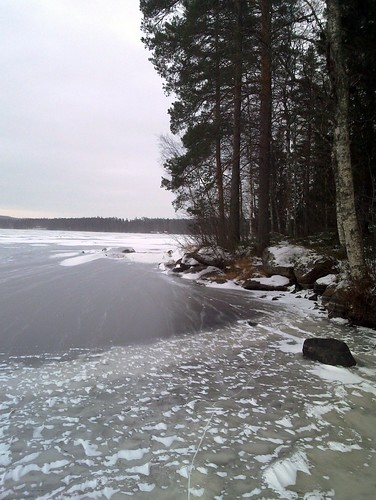 sky lake snow tree ice pine forest finland clear keuruu isokirja pohjoisjärvi